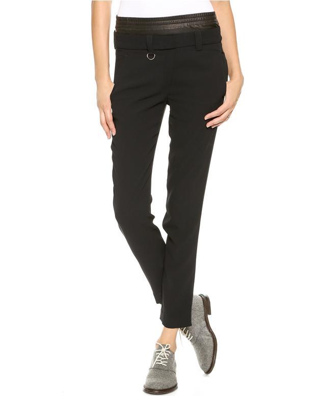 A.L.C. Elliot Leather Combo Pants