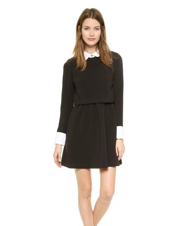 Rachel Zoe Onyx Collared Fit & Flare Dress
