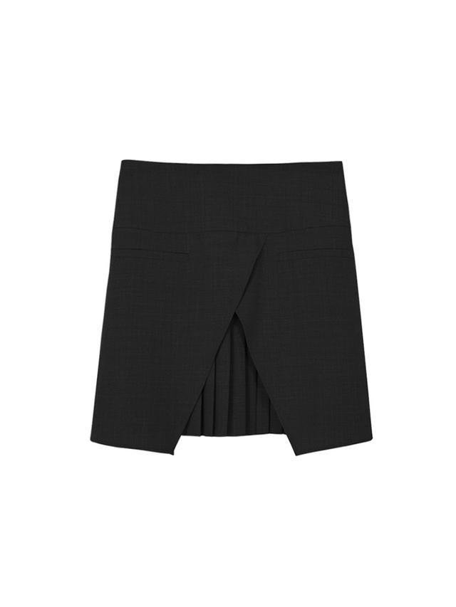 Tibi Edie Tropical Wool Mini Skirt