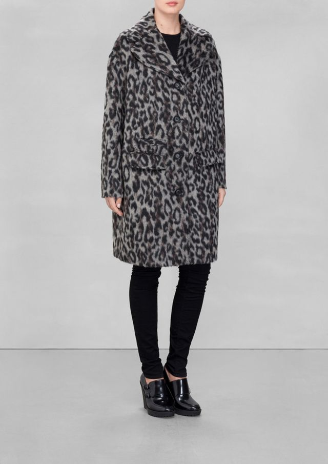 & Other Stories Leopard Coat