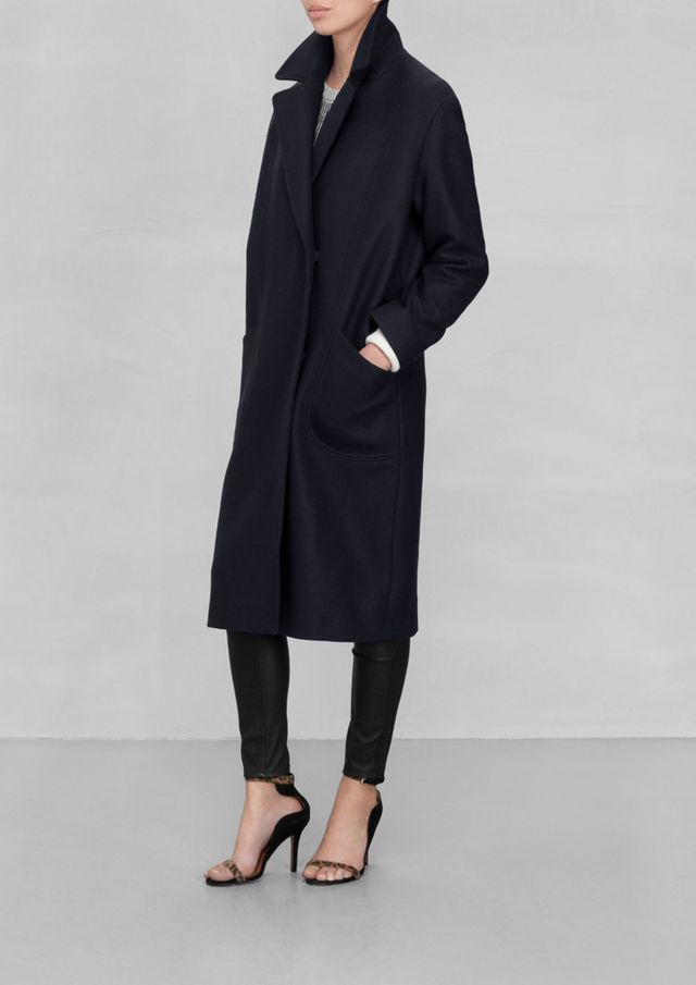 & Other Stories Masculine Wool Coat