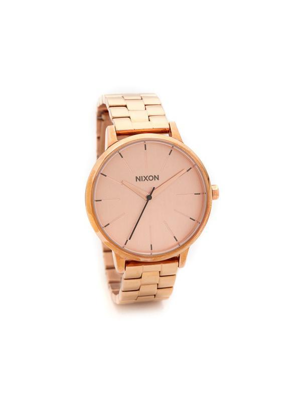 Nixon Rose Gold Chronograph Watch