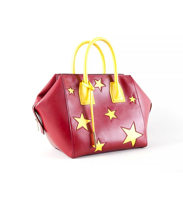 Stella McCartney Cavendish Stars Faux-Napa Boston Tote Bag