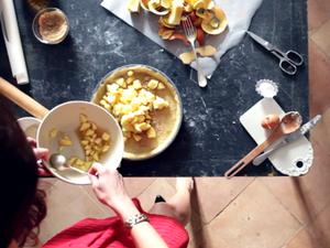 Calvados Apple Tart With Crème Fraiche