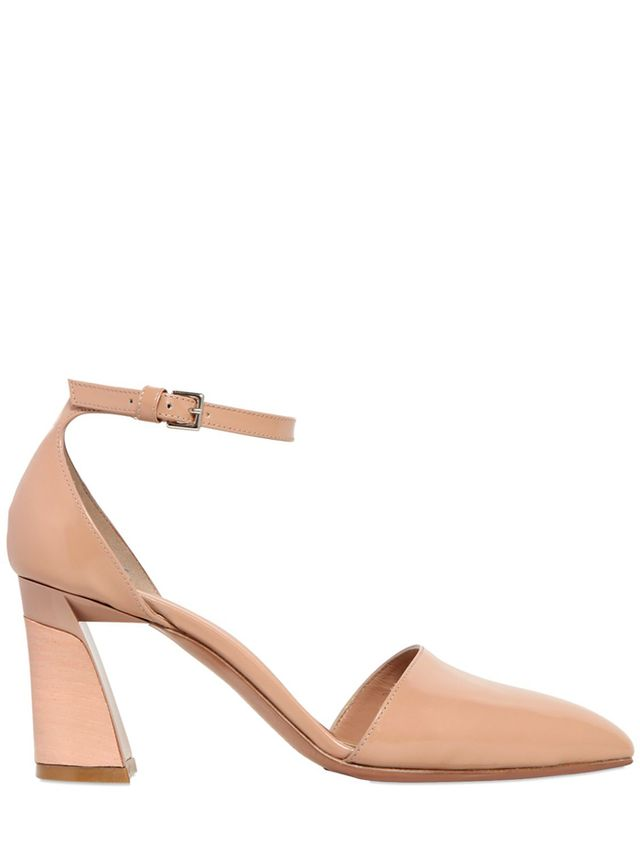 Marni 70MM Brushed Leather Mary Jane Pumps