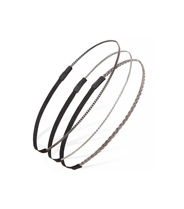 Forever 21 Braid & Chain Headband Set