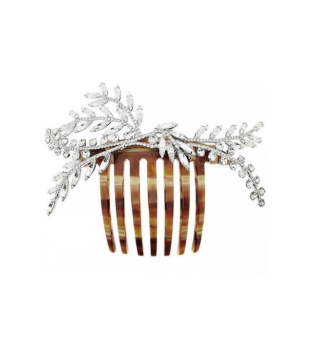 Jennifer Behr Grand Laurel Swarovski Crystal-Embellished Hair Comb