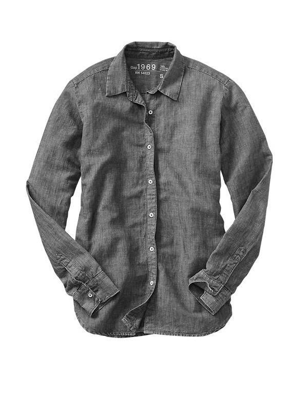 Gap 1969 Denim Boyfriend Shirt