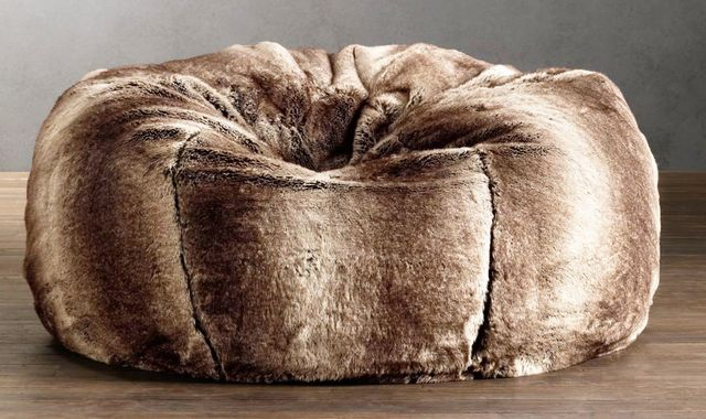 Restoration Hardware Grand Luxe Faux Fur Beanbag Chair