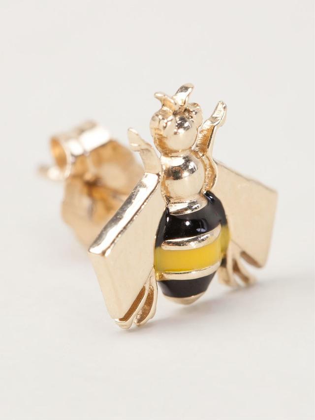 Alison Lou bee stud earrings