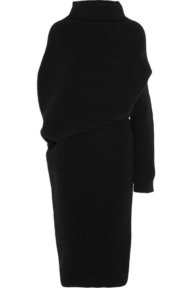 Acne Studios Gala asymmetric ribbed wool sweater dress