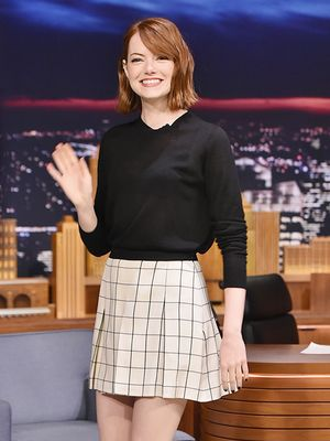 Check, Please! Emma Stone Gets It Right (Again) in Proenza Schouler