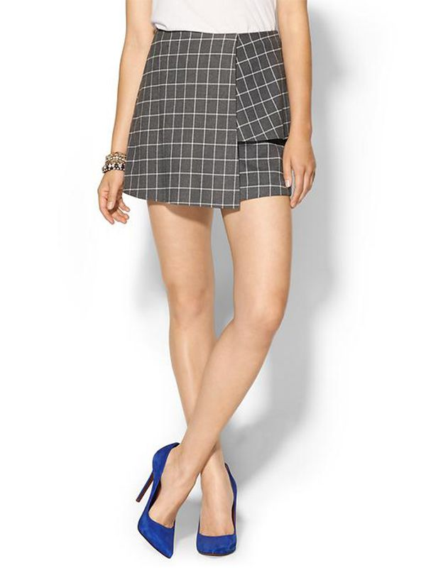 JOA Check Mini Skirt