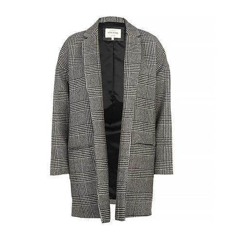 Black Check Oversized Jacket