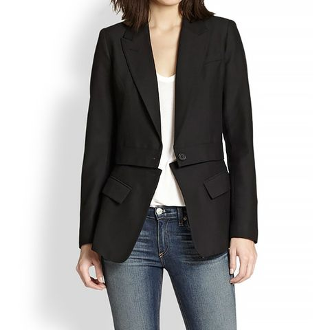 Two-for-One Wool Detachable-Bottom Blazer