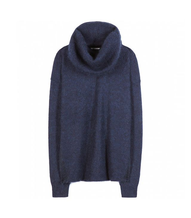 Acne Studios Demi Mix and Mohair-Blend Sweater with Removable Snood