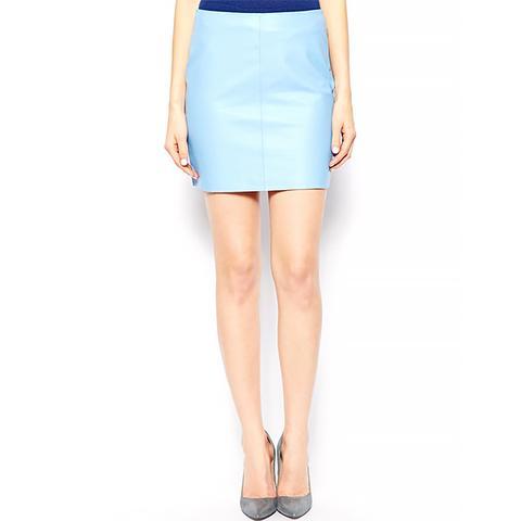 Leather Pelmet Mini Skirt
