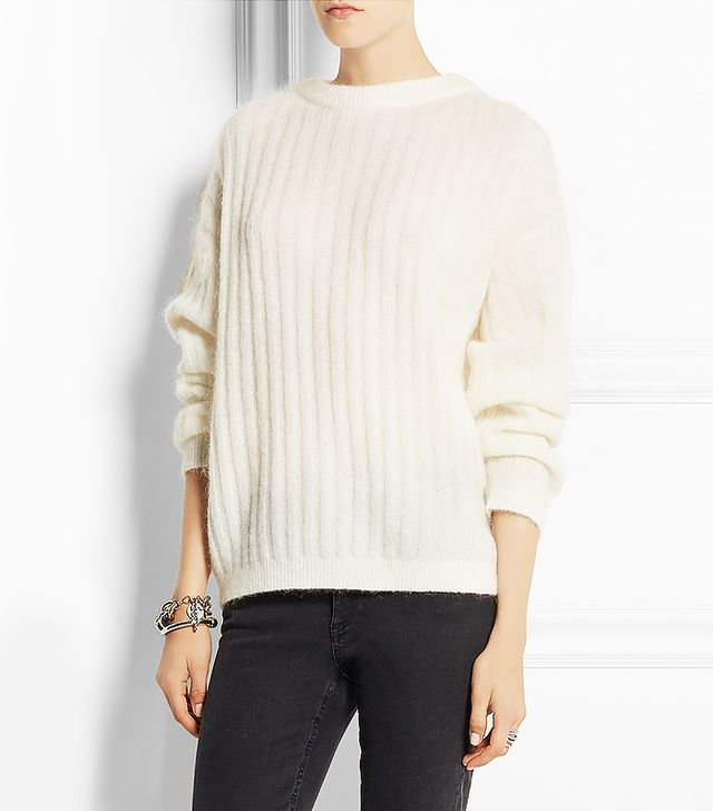Acne Studios Dramatic Ribbed Knitted Sweater
