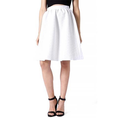 Daisy Jacquard Flare Skirt