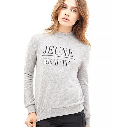 Jeune Beauté Fleece Sweatshirt