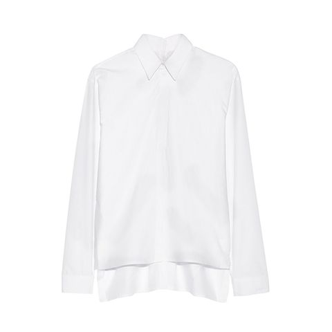 Split-Side Cotton-Poplin Shirt