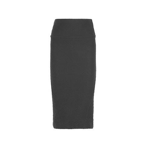 Kaya textured stretch-jersey skirt