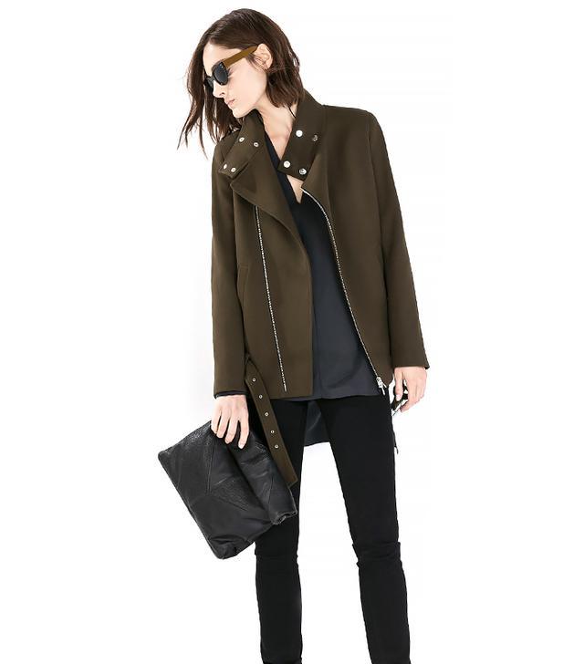 Zara Belted Zip Coat