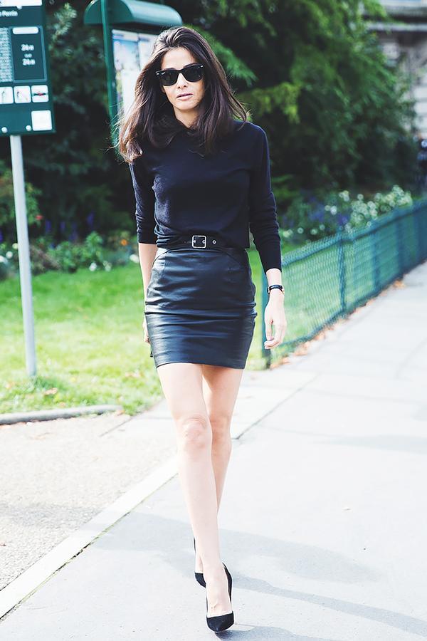 Similar miniskirt: BB Dakota Eloy Leather Miniskirt ($120) in Black