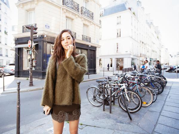 Similar miniskirt: See by Chloé Cotton-Blend Lace Miniskirt ($295)