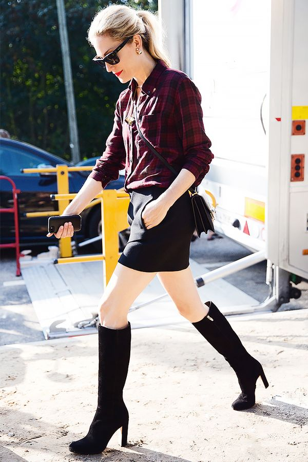 Similar miniskirt: Monki Brushed Miniskirt ($57)