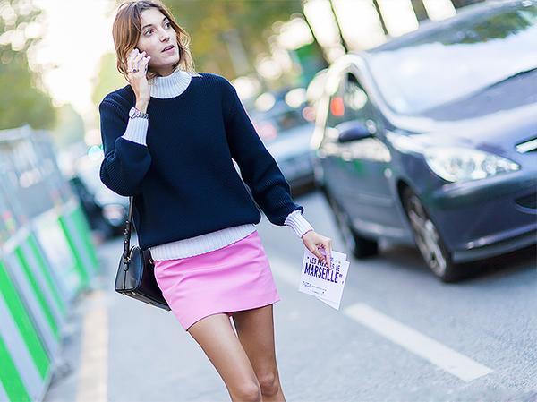 Similar miniskirt: Ulla Johnson Waif Skirt ($265) in Bubblegum