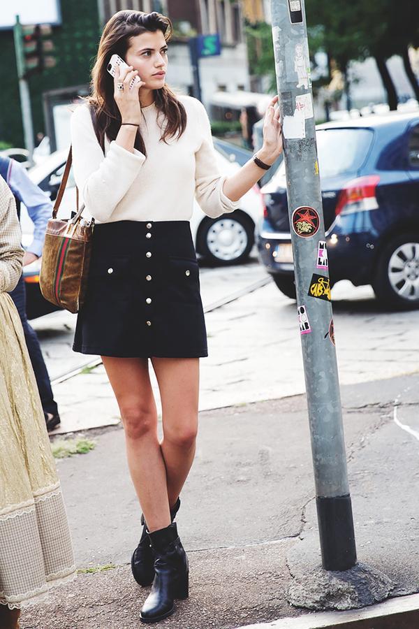 Similar miniskirt: See by Chloé A-Line Zipper Skirt ($245) in Denim