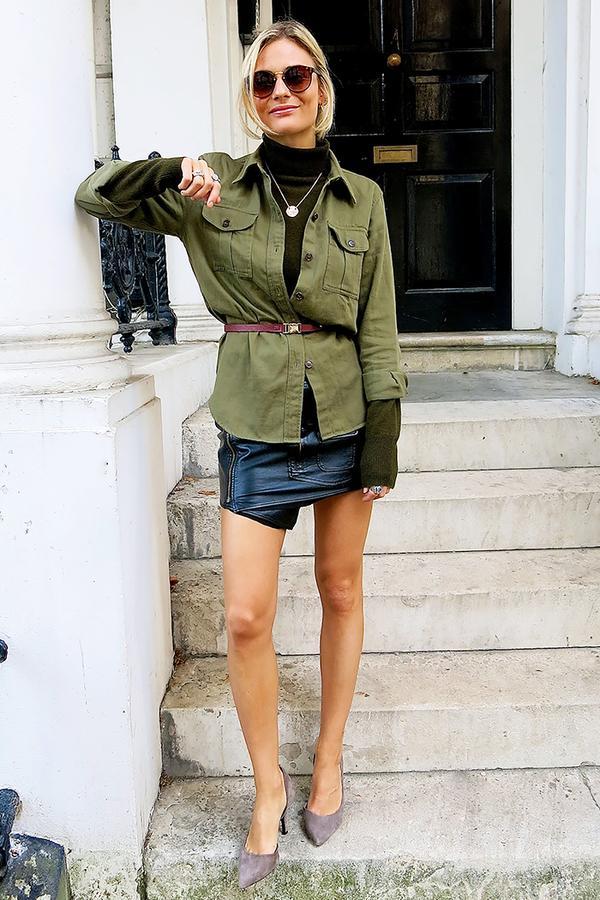 Similar miniskirt: IRO Jalie Miniskirt ($357) in Black