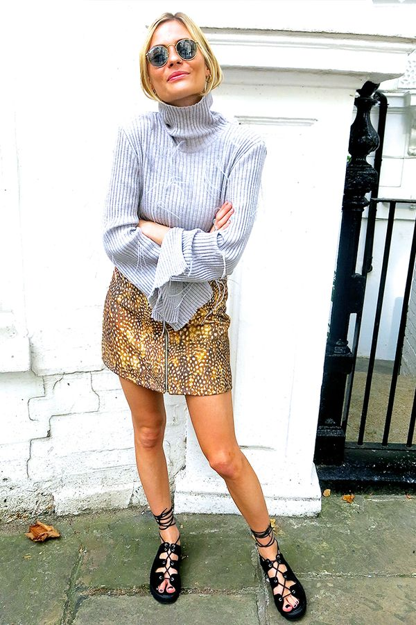 Similar miniskirt: Topshop Leopard Print Pelmet Skirt ($70)