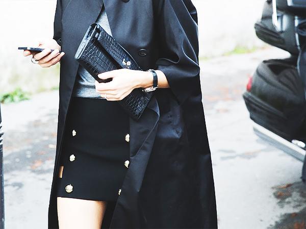 Similar miniskirt: Versus Safety Pin-Embellished Crepe Miniskirt ($350)