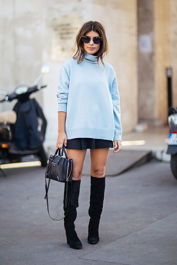 Similar miniskirt: Velvet Brita Miniskirt ($59) in Black  Would you wear a miniskirt this fall? Let us know in the comments below!