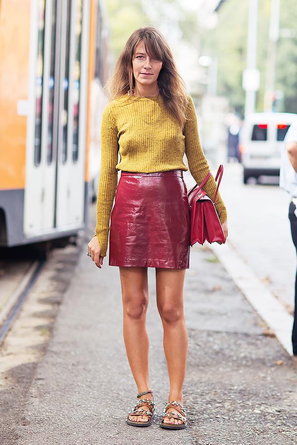 Similar miniskirt: Susana Monaco Madeleine Leather Skirt ($308)