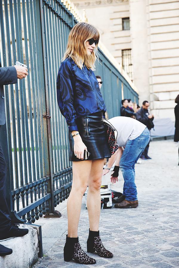 Similar miniskirt: Nasty Gal Zip Line Skirt ($68)