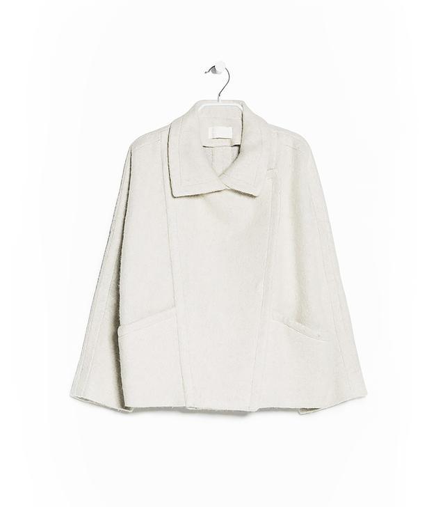 Mango Asymmetric Wool-Blend Coat