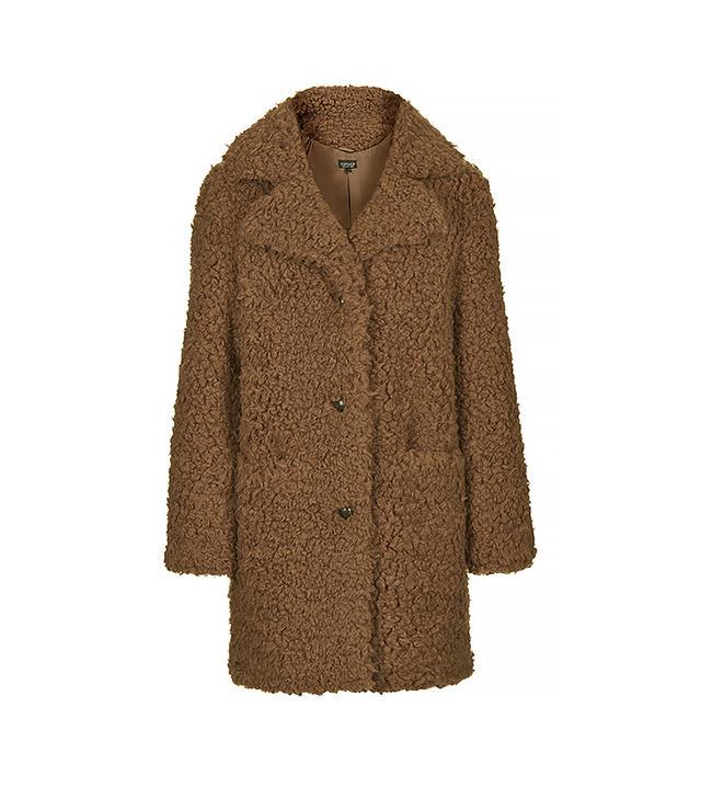 Topshop Faux Fur Teddy Coat
