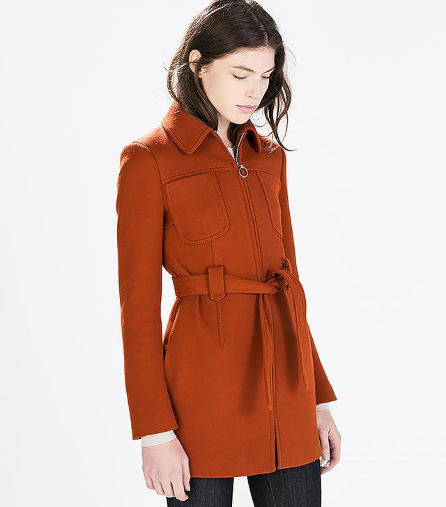 Zara Coat with Front Pockets