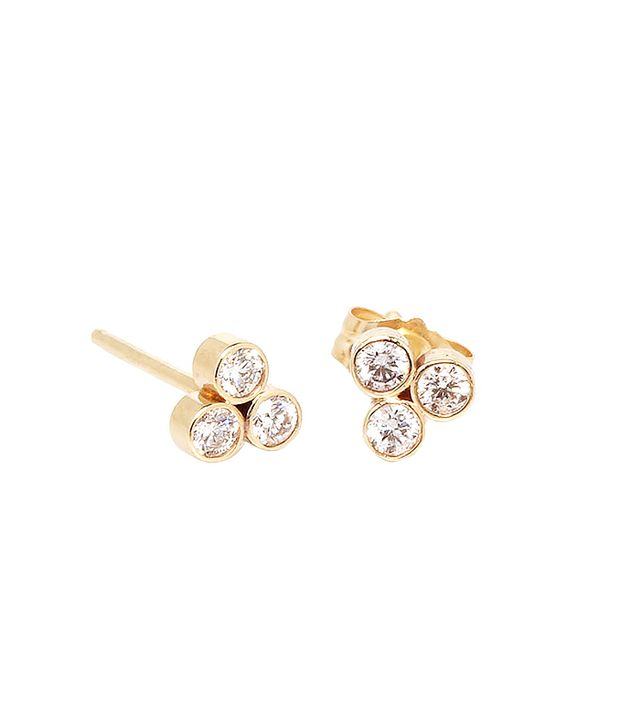 Zoe Chicco 14k Trio Diamond Studs