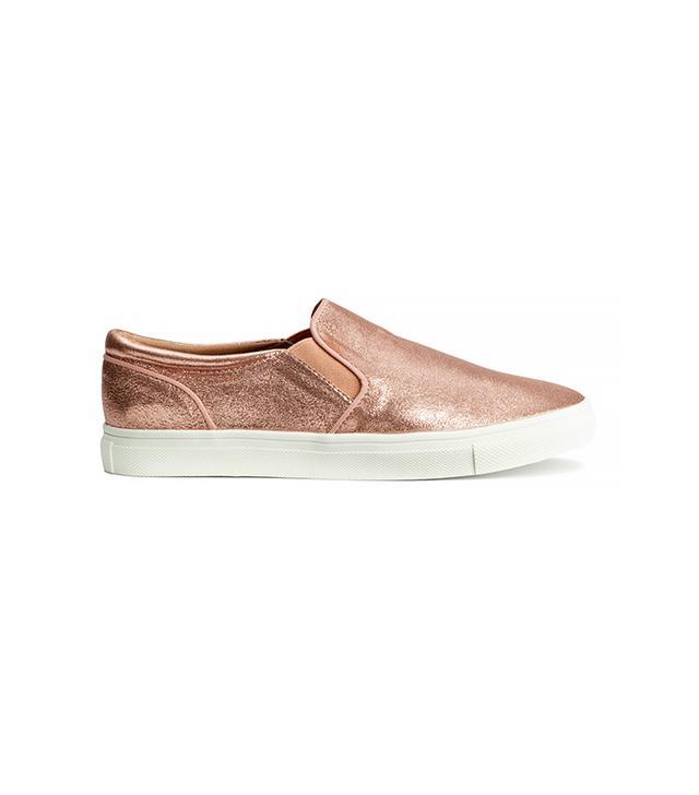 H&M Rose Gold Sneakers