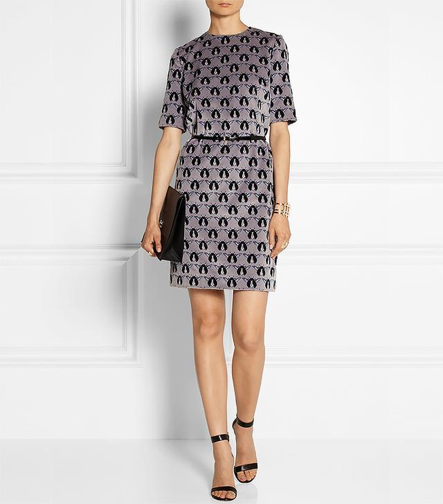 Victoria, Victoria Beckham Printed Velvet Dress