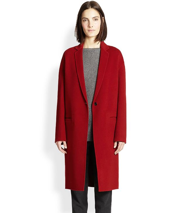 Vince Tailored Wool Blend Coat
