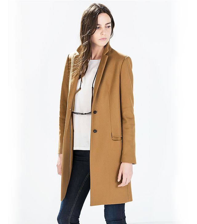 Zara Wool Camel Coat