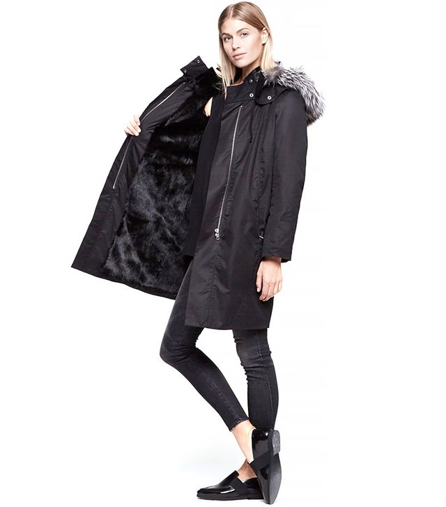 Helmut Lang Fur Lined Trench