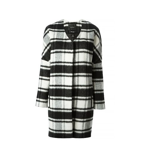 Coat in Bold Check