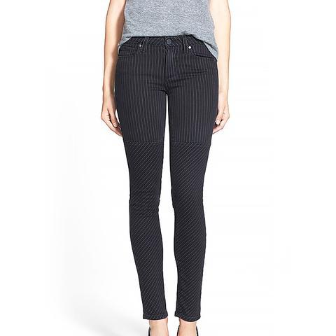 Olga Pinstripe Ultra Skinny Jeans