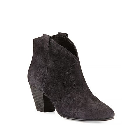 Jalouse Suede Slip-On Western Ankle Booties